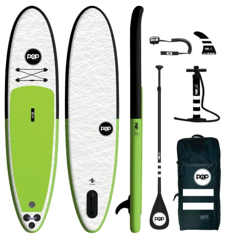 The POP Up – Black/Green Inflatable SUP 11'