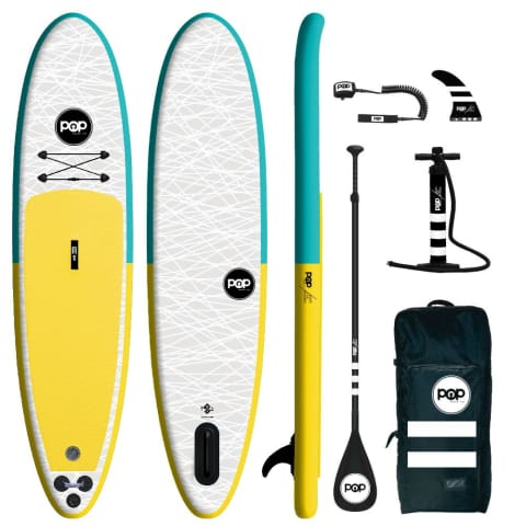 The POP Up – Turquoise/Yellow Inflatable SUP 11'