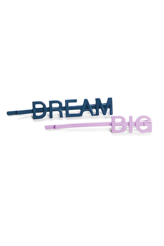 Dream Big 2 Pack Barrette
