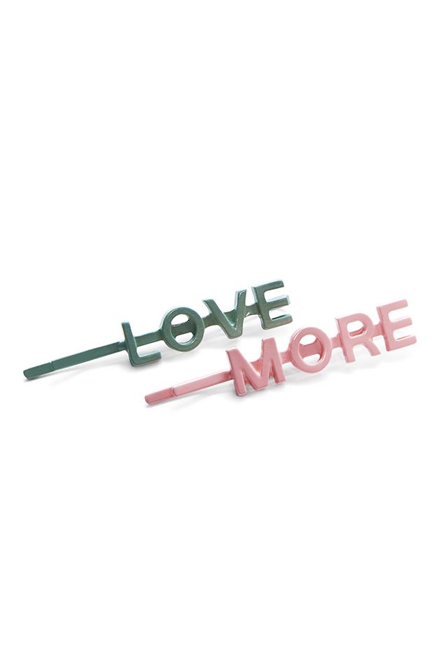 Love More 2 Pack Barrette