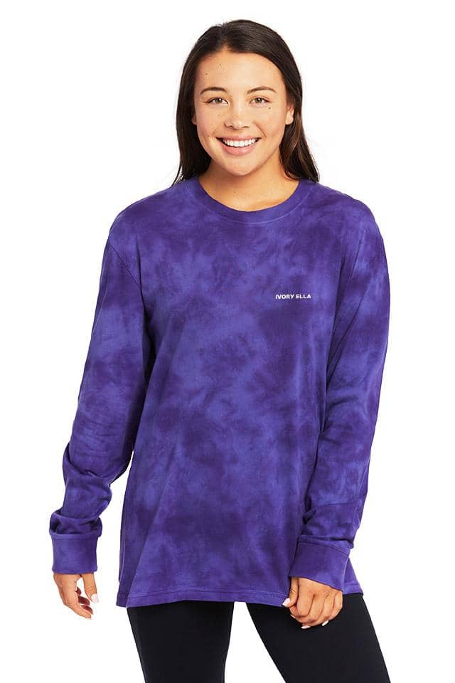 Petunia Cloud Arctic Oversized Long Sleeve T-shirt