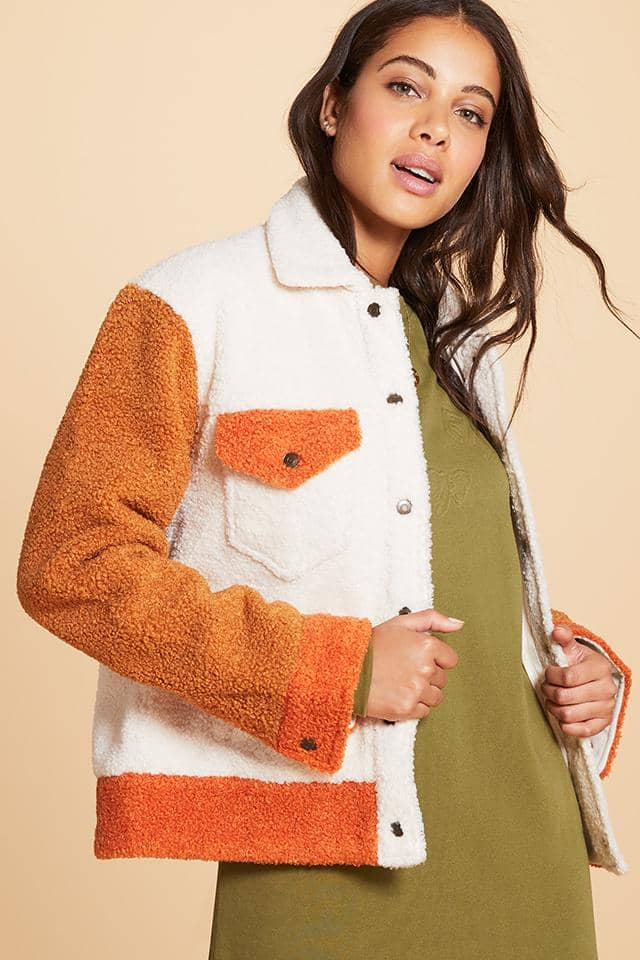 Oversized Sherpa Trucker Jacket