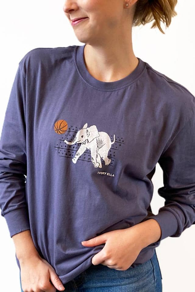 Basketball Oversized Long Sleeve T-Shirt