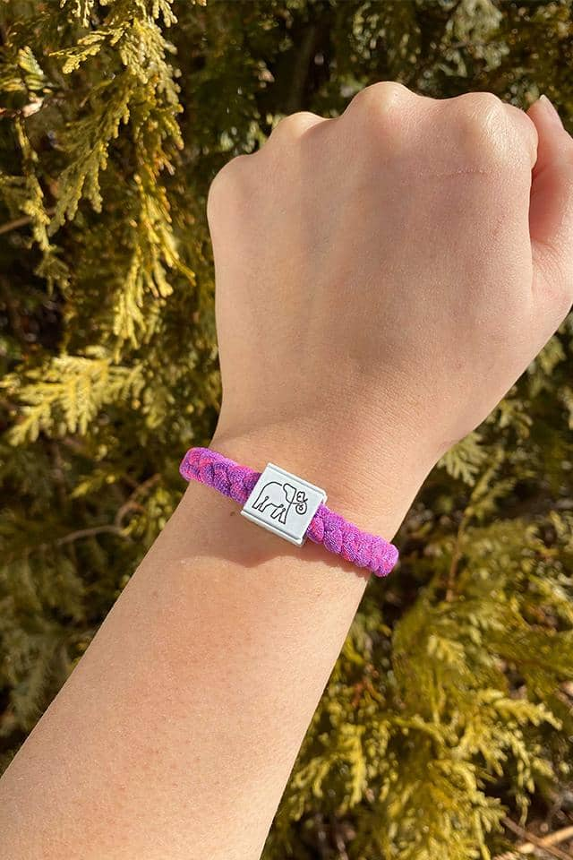 Pink/Purple Multi Stretchy Logo Bracelet