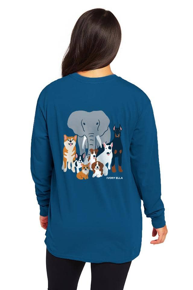 Dog Friends Oversized Long Sleeve T-shirt