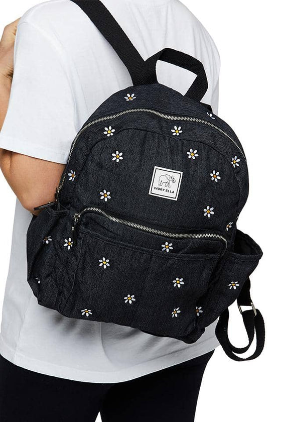Daisy Embroidered Backpack