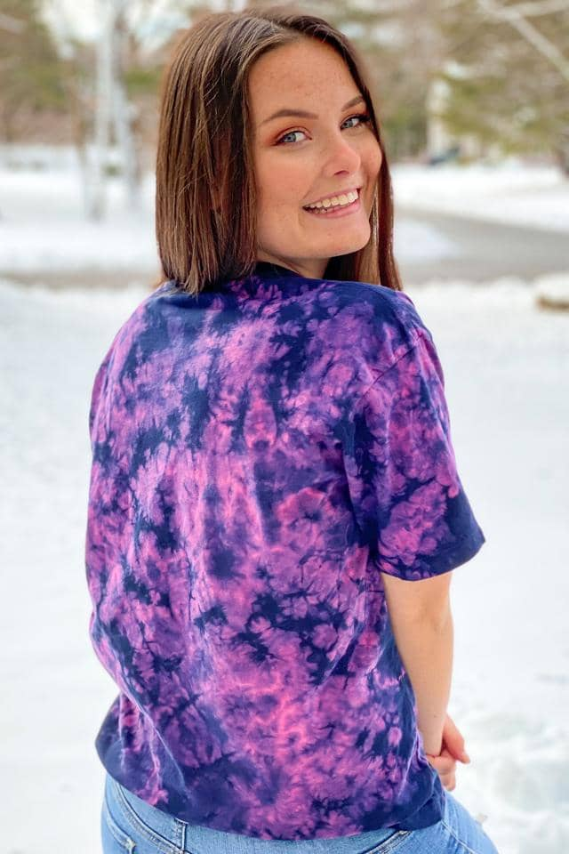 Dusk Cloud Tie Dye Oversized T-shirt