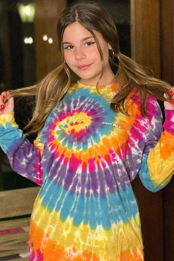 Dusty Rainbow Swirl Oversized T-Shirt