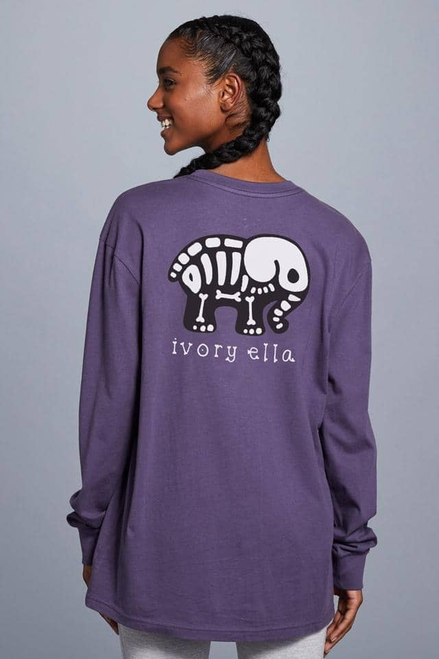 Halloween Skeleton Oversized Long Sleeve T-Shirt