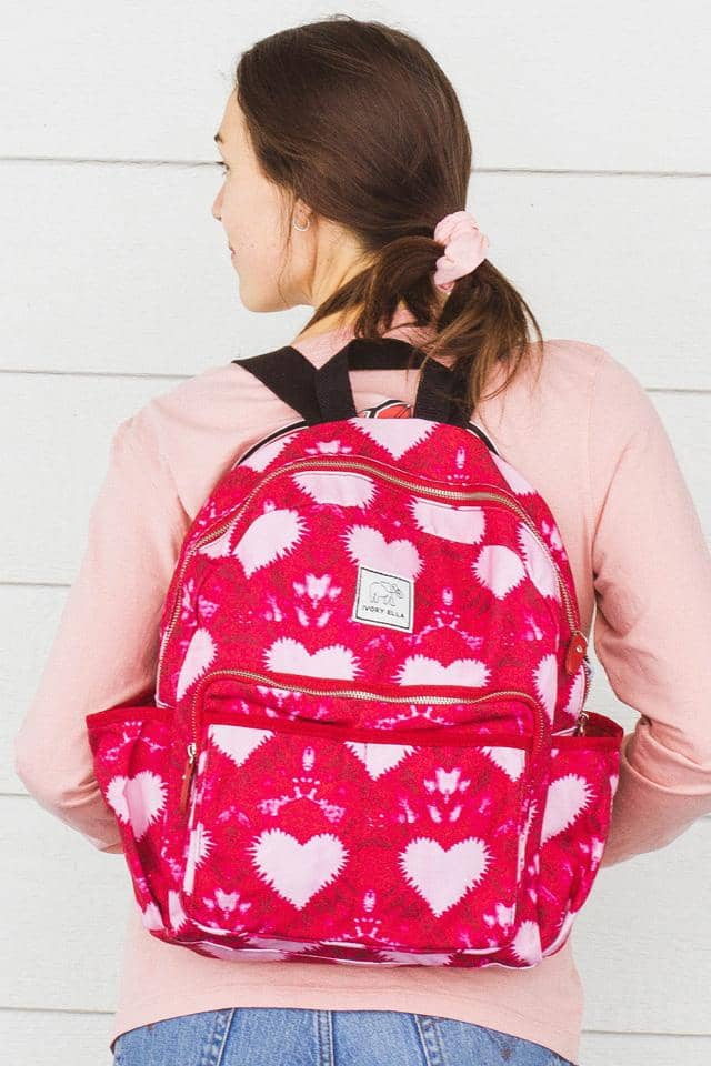 Tie Dye Heart Backpack