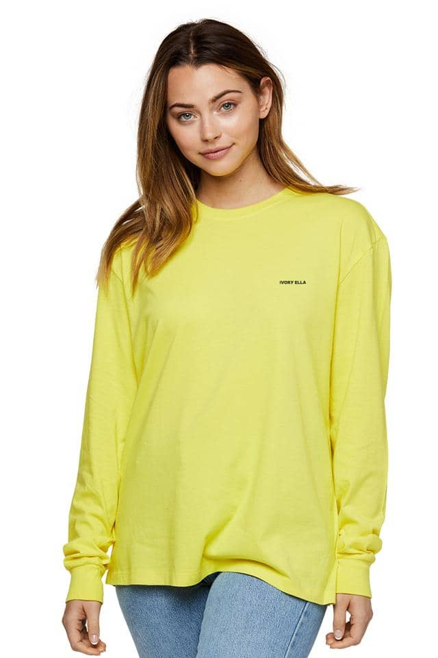 Heritage Ombre Smiley Oversized Long Sleeve T-shirt