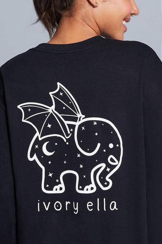 Halloween Bat Oversized Long Sleeve T-Shirt