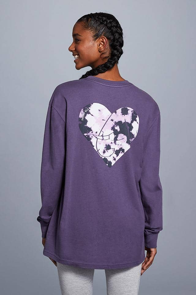 Tie Dye Heart Oversized T-Shirt