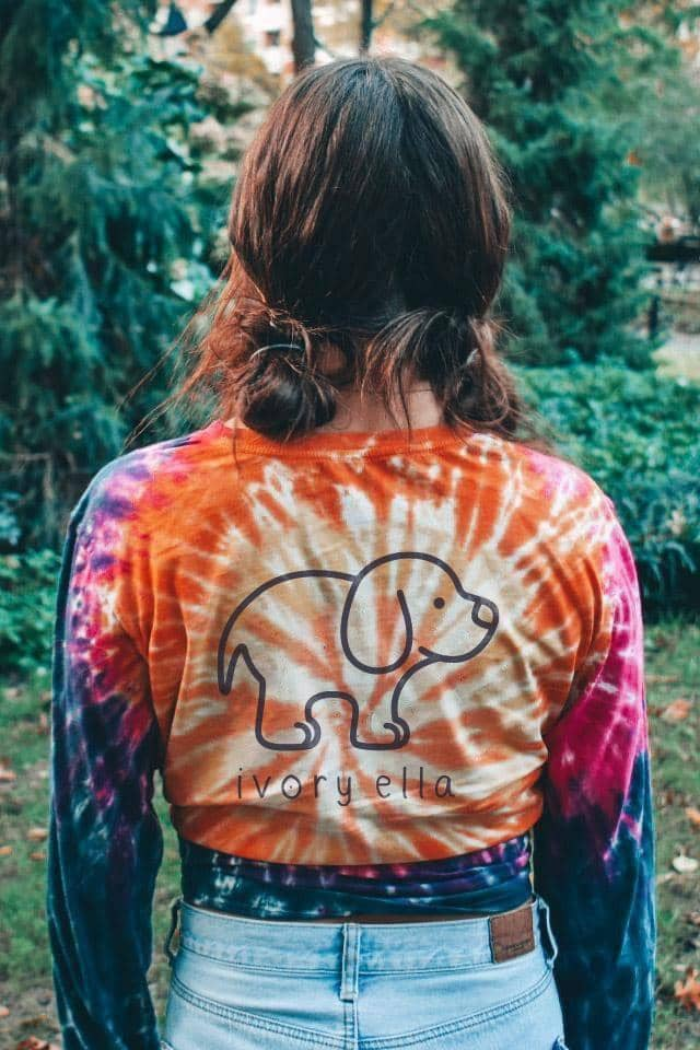 Love Dogs Tie Dye Long Sleeve T-shirt