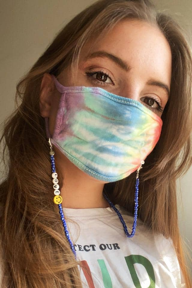 LOVE Face Mask Beaded Chain