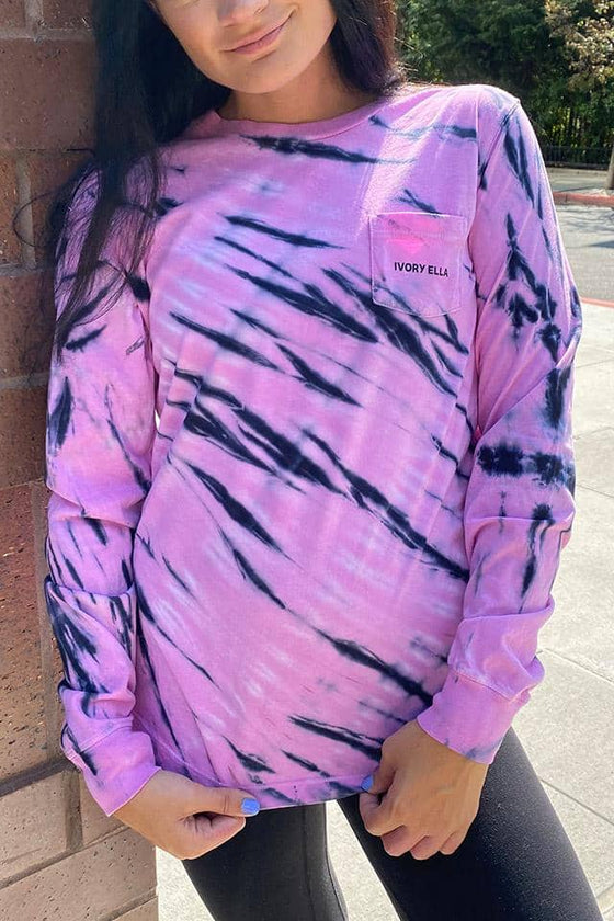 Lilac Tie Dye Long Sleeve T-Shirt