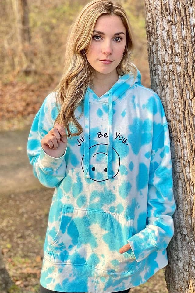 Limited Edition: Pastel Blue Tie Dye Oversized Hoodie