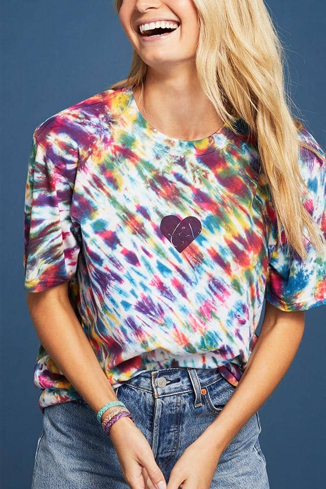 Heart Tie Dye Oversized T-Shirt