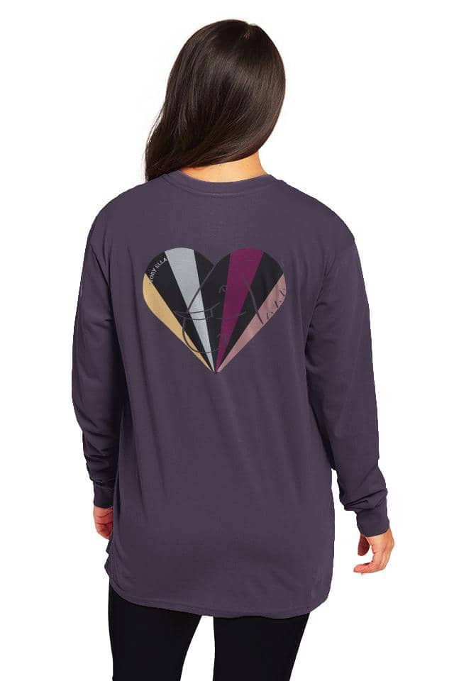 Multi Heart Oversized Long Sleeve T-Shirt