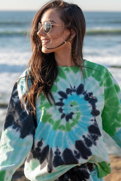 World Swirl Tie Dye Oversized Sweatshirt