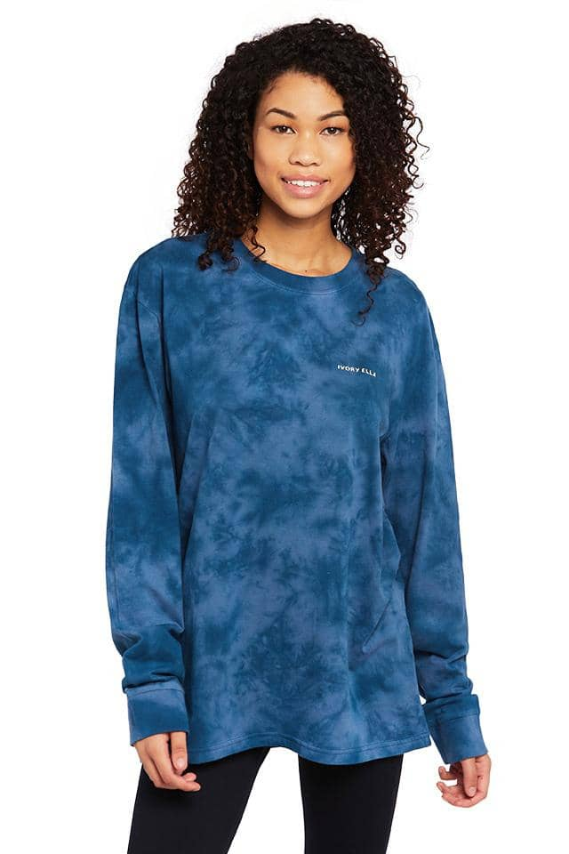 Sapphire Tie Dye Arctic Oversized Long Sleeve T-shirt