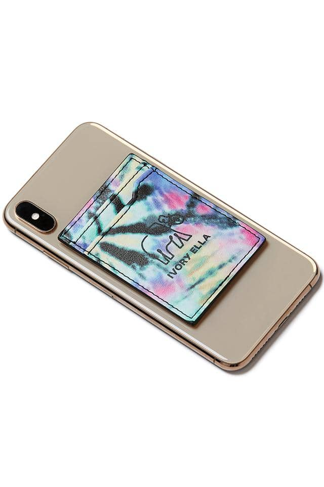 Neon Rainbow Cell Phone Card Holder