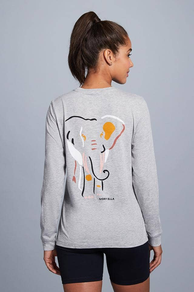 Oria Regular Fit Elephant Shapes Tee