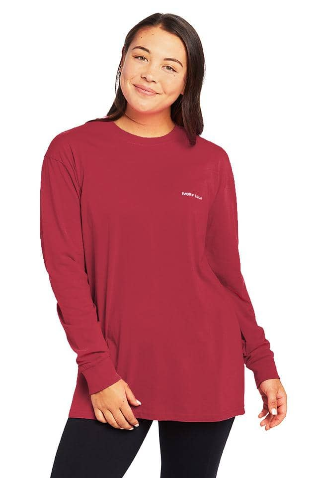 Buffalo Check Oversized Long Sleeve T-Shirt