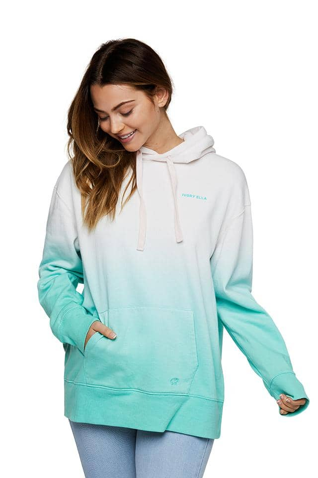 Mint Ombre Oversized Hoodie