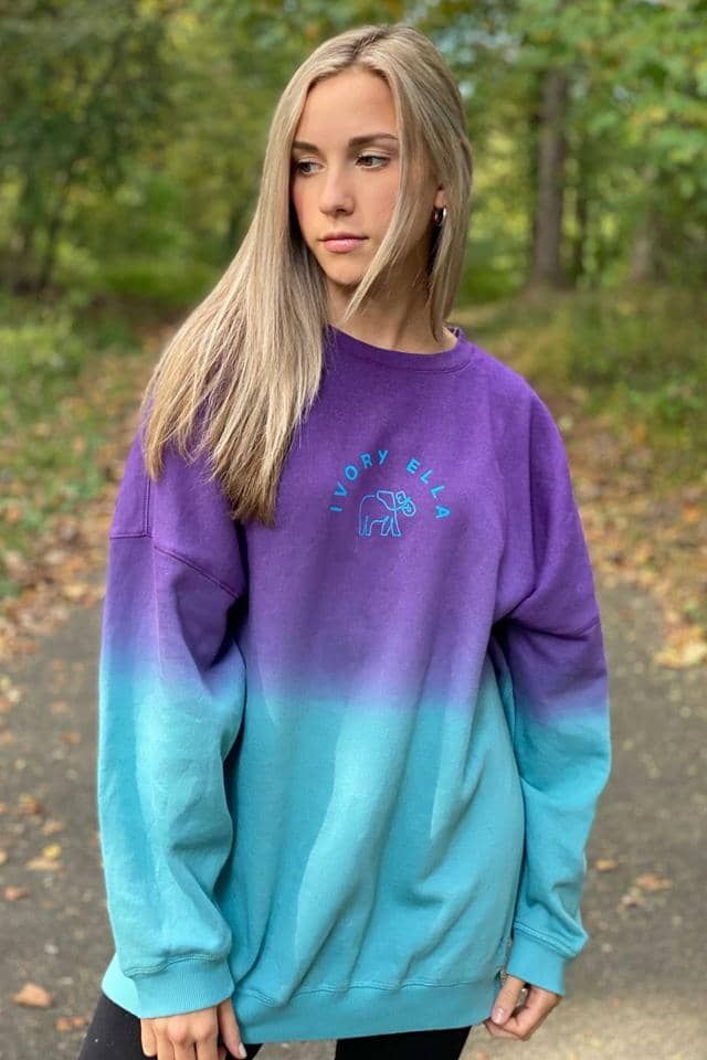 Night Sky Ombre Oversized Sweatshirt