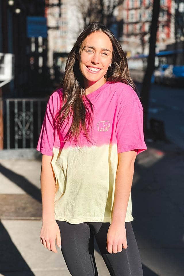 Heritage Pink & Yellow Ombre Oversized T-shirt
