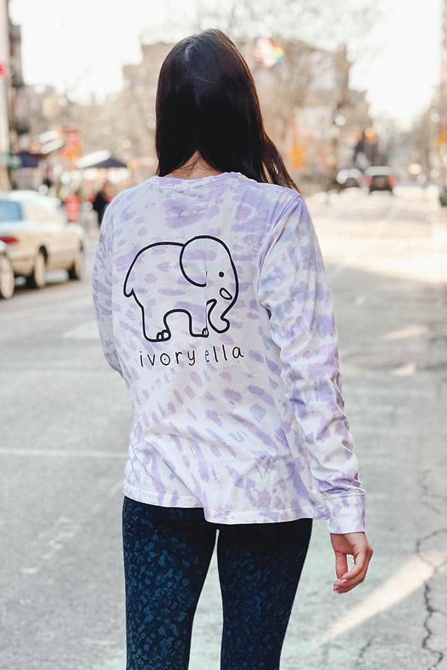 Pastel Burst Tie Dye Long Sleeve T-shirt