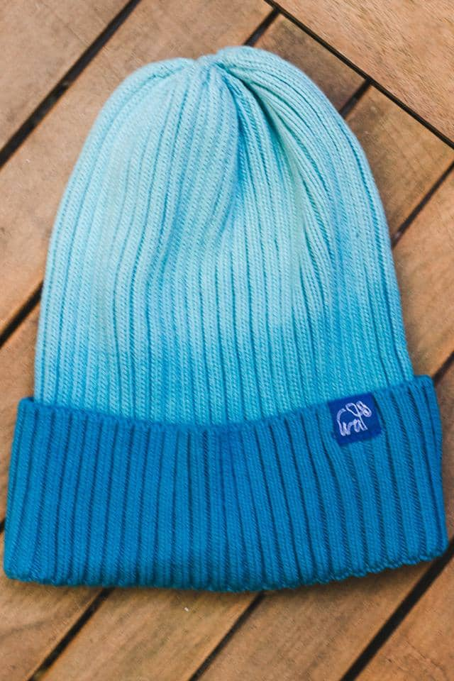 Sapphire Ombre Knit Beanie