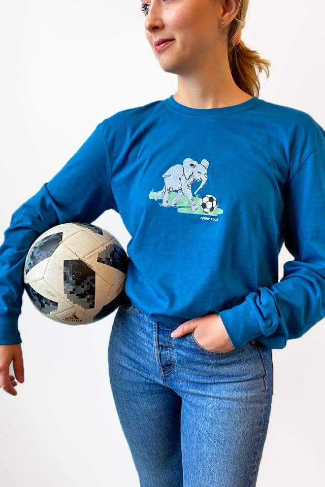 Soccer Oversized Long Sleeve T-Shirt