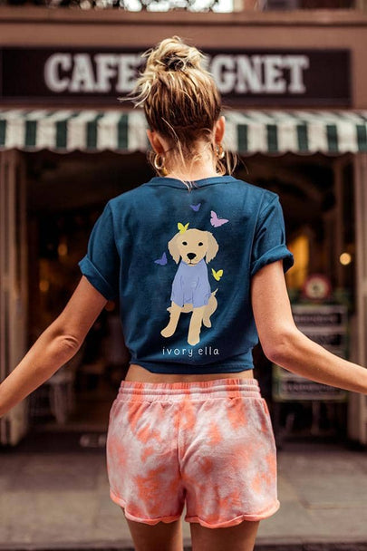 Butterfly Dog Oversized T-shirt