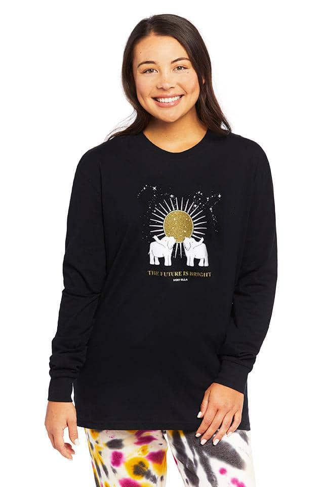 Bright Future Oversized Long Sleeve T-Shirt