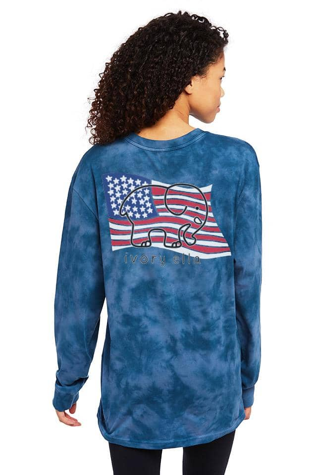 Veteran's Tie Dye Oversized Long Sleeve T-shirt