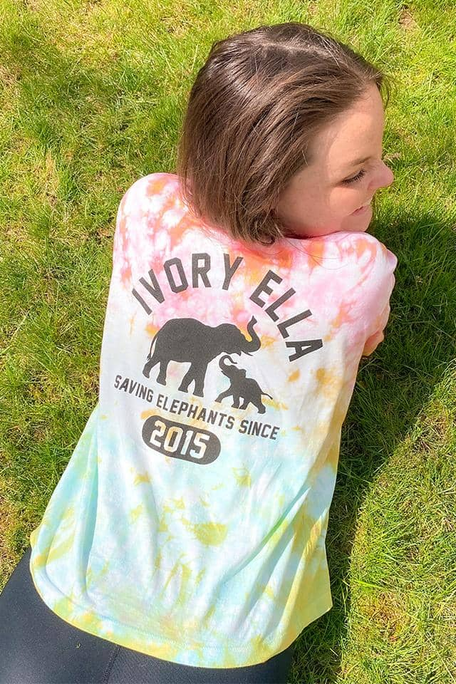Sunset Ice Dye Oversized T-shirt