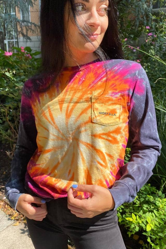 Burst Tie Dye Long Sleeve T-Shirt