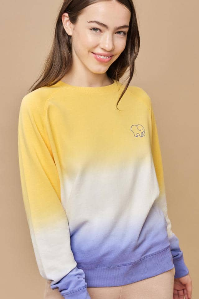 Alissa Regular Fit Dip Dye Crewneck