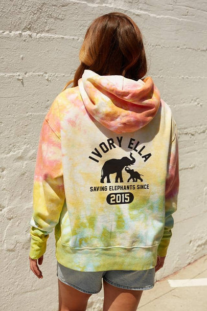 Sunset Ice Dye Oversized Hoodie