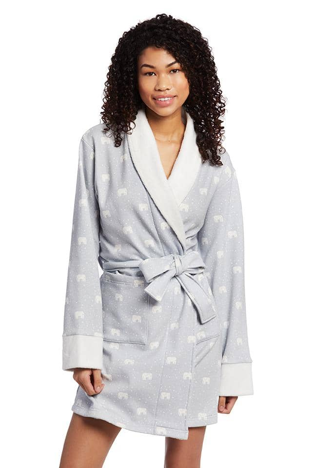 Tossed Elephant Sherpa Robe