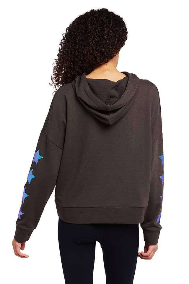 Foil Stars Relaxed Drop Shoulder Hoodie
