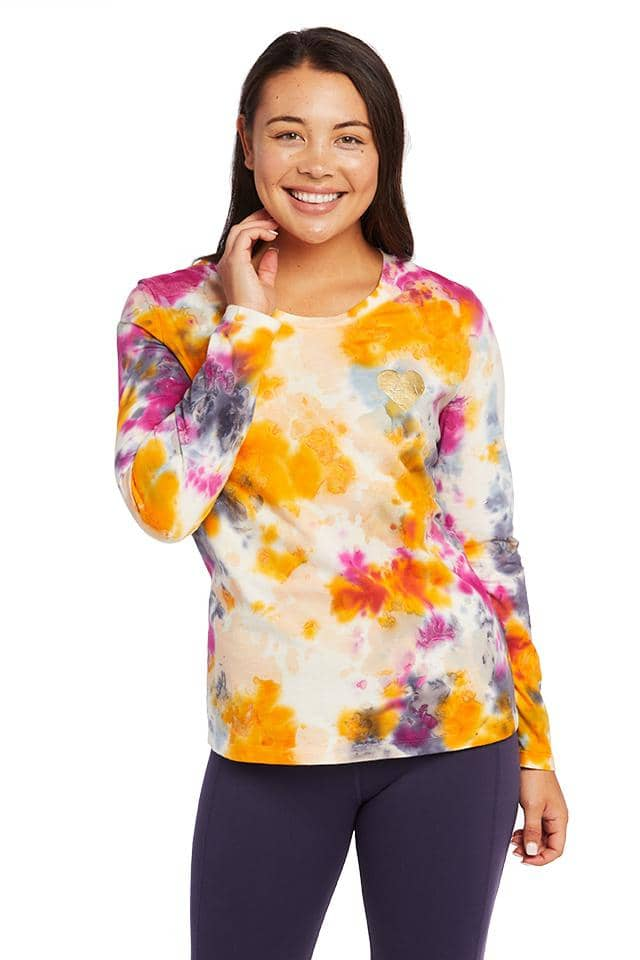 Tie Dye Slim Heart Long Sleeve T-Shirt