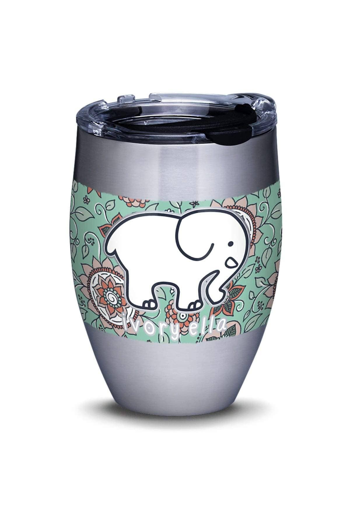 Ivory Ella Accessories 12oz Stainless Steel Tervis Blossom Pattern 12oz Tumbler