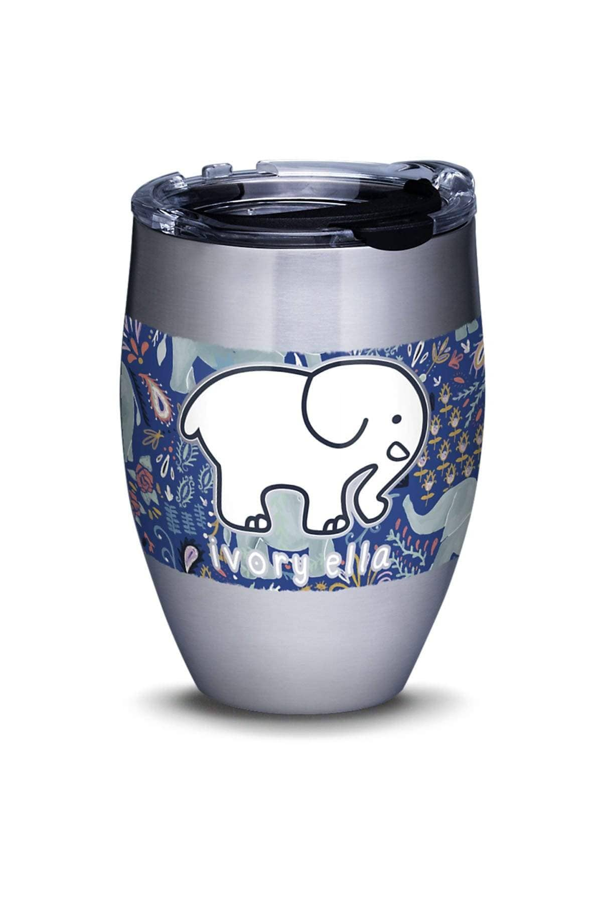 Ivory Ella Accessories 12oz Stainless Steel Tervis Paisley Elephant 12oz Tumbler