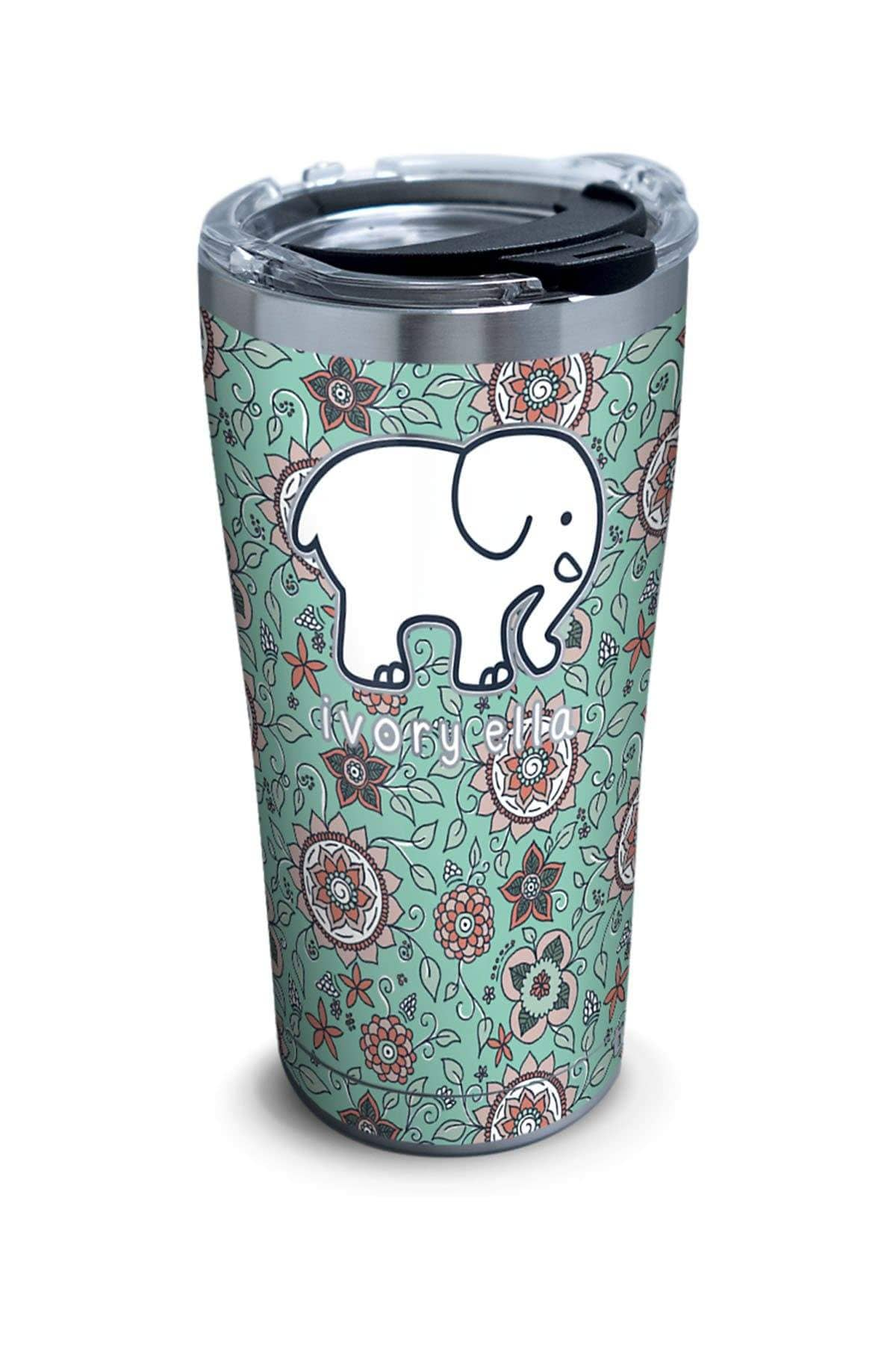 Ivory Ella Accessories 20oz Stainless Steel Tervis Blossom Pattern 20oz Tumbler