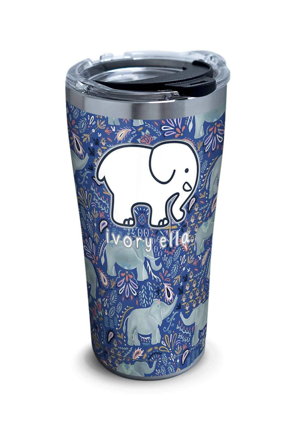 Stainless Steel Tervis Paisley Elephant 20oz Tumbler - Ivory Ella - Drinkware