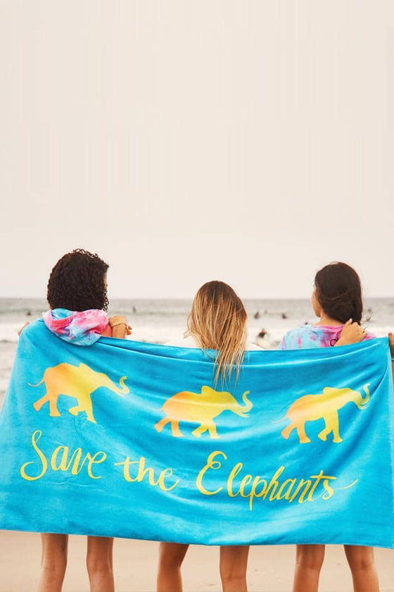 Forever Elephants Beach Towel