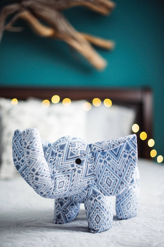 Diamond Mosaic Stuffed Elephant
